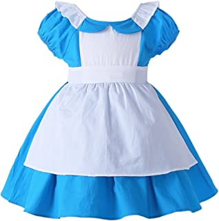 Little Girls Princess Alice Dress Up Cotton Halloween Costumes