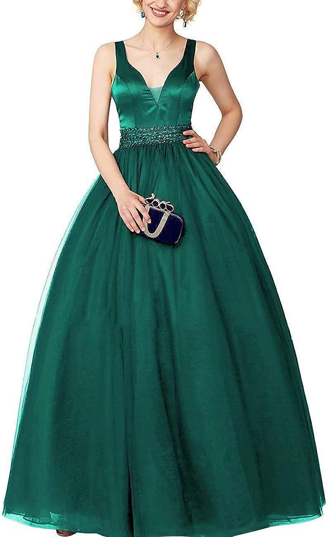 Staypretty VNeck Women's Party Dresses Sparkling Long Elegant Formal Backless Prom Gown
