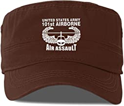 US Army 101st Airborne Air Assault Adult Flat-Top Cap Army Hat Military Flat Top Adjustable Baseball Cap