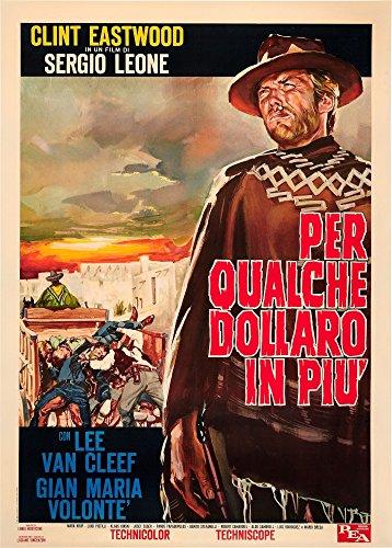 Posterazzi For A Few Dollars More (Aka Per Qualche Dollaro in Piu') Right: Clint Eastwood On 1967 Italian Art 1965 Movie Masterprint Poster Print (11 x 17)