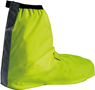 Bike Gaiter Short - Waterproof Shoe Cover with Reflective Elements - Breathable Cycling Overshoes with full length velcro closure