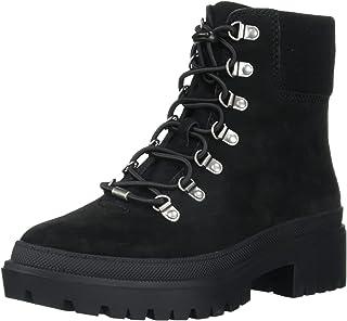 Lucky Brand Women's Eavan Combat Boot, Black, 8