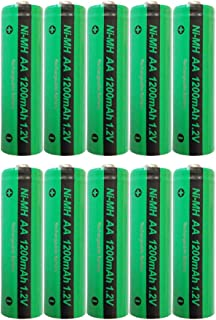Aa Size 1.2V 1200mah Nimh Rechargeable Battery in Button Top 10pcs