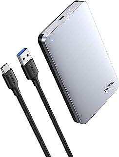 """UGREEN Hard Drive Enclosure for 2.5"""" SATA SSD HDD, Aluminum USB C to SATA Adapter USB 3.1 Gen 2 Support UASP SATA III Comp..."""
