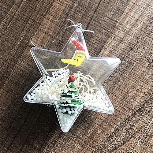 MeterMall cadeau zes puntige ster vorm transparante kleur snoep doos voor kerst partij benodigdheden