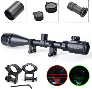 Twod Rifle Scope Tactical 6-24X50mm AOEG/3-9x40mm Optics Hunting Rifle Scope Red/Green..