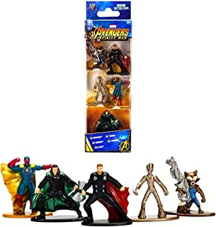 "Jada Toys Nano Metalfigs Marvel Avengers Movie Infinity War Wave 2 Metals Die-Cast Collectible Toy Figures, 1.65"", Multicolor"