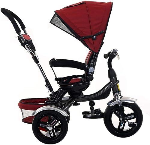 GIFT Kids Trike 2 In 1 Baby-Dreirad Mit Drehbarem Sitzwagen Erstes fürrad Für Kinder Geeignet Für 1-5 Jahre Alte Jungen Und mädchen,A
