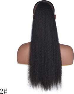 100G Straight Hair Afro Ponytail Puff 22 Inch Long Tail Synthetic Natural Hair Ponytail Hairpieces For Women,2,22inches