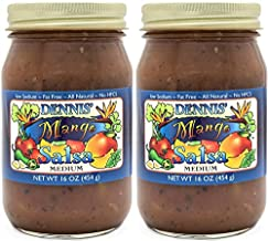 All-Natural Mango Salsa by Dennis' Gourmet | A Fresh, Hearty Restaurant Salsa that is Low Sugar, Low Cal, Low Carb, Low Sodium, and Gluten Free! Includes (2) Large 16 oz Jars