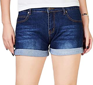 Macondoo Women's Crimping Plus Size Denim Stretchy Jeans Hot Pants Short