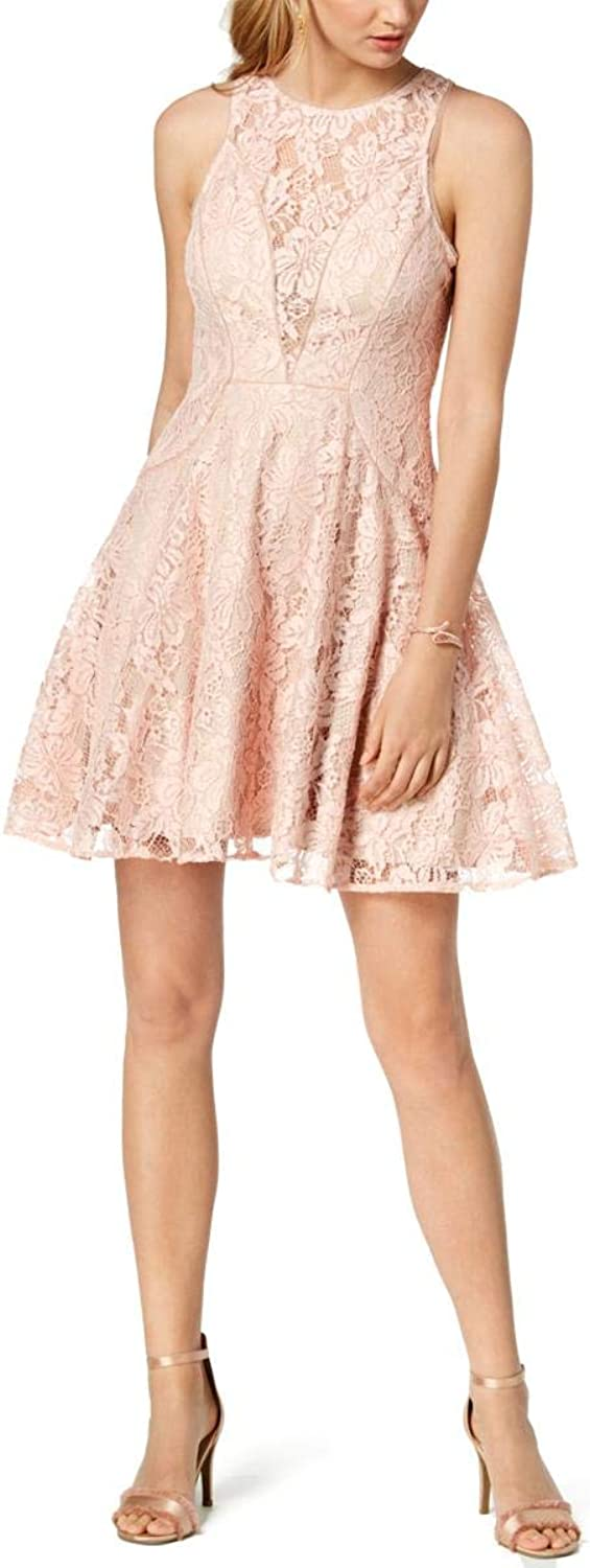 Xscape Womens Petites Lace Overlay Sleeveless Cocktail Dress