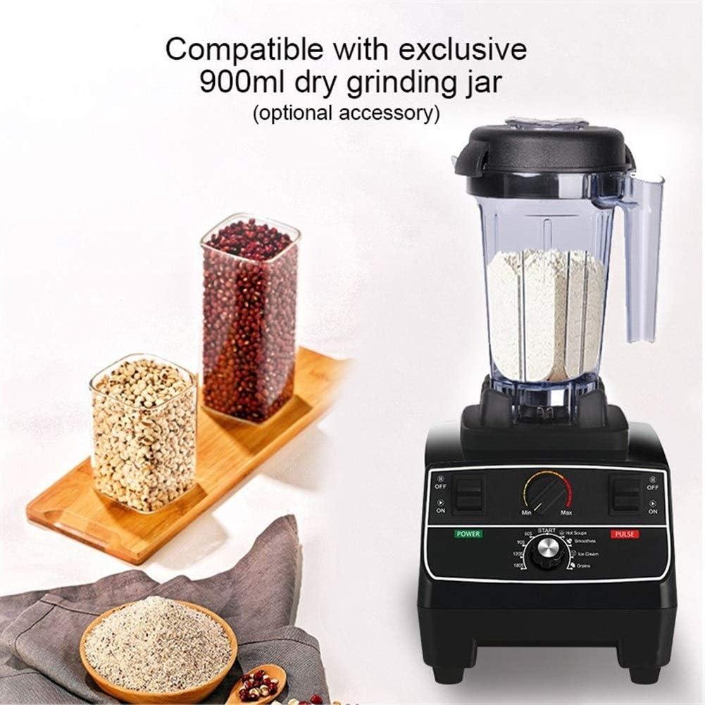 YJXD sans BPA 2L Jar 2200W Professional Smart minuterie Mixer Blender préprogrammées Juicer Robot Glace Smoothies Crusher (Color : Extra Dry Jar) With Extra 3 Parts