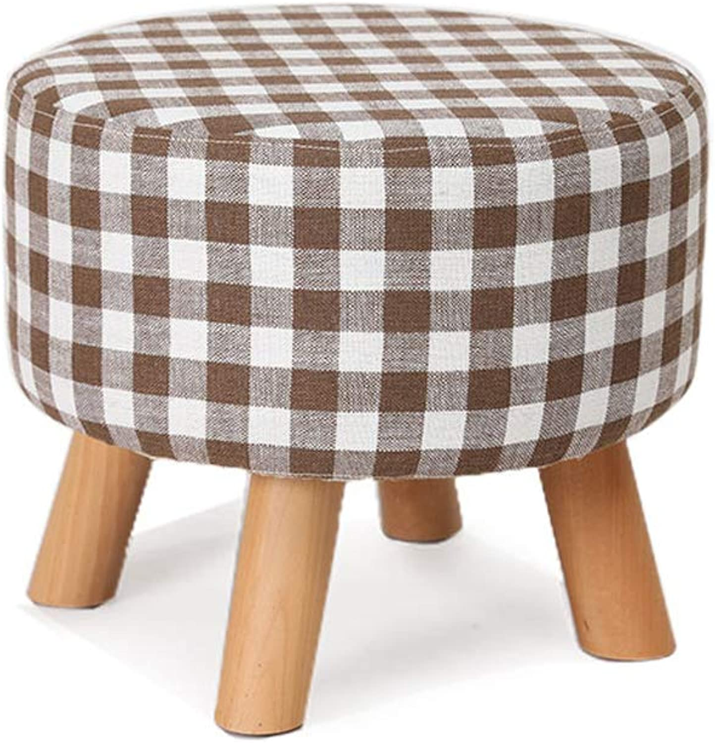 YANYUBIN Solid Wood Stool,Low Stool,Table and Stool,Changing His shoes Stool,Small Bench,Can Be Used for Changing shoes and Dining Stools (color   Style)