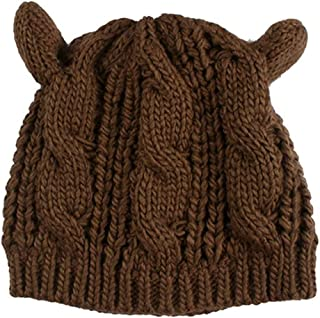 MZHHAOAN Hat Beanie Women Warm Solid Color Hip-hop Cap Lady Girls Winter Knitted Beanies Caps