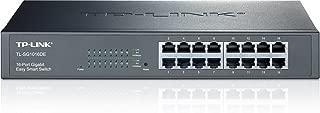TP-Link 16-Port Gigabit Ethernet Easy Smart Managed Switch  Unmanaged Plus   Plug and Play   Desktop/Rackmount   Metal   Fanless   Limited Lifetime (TL-SG1016DE)