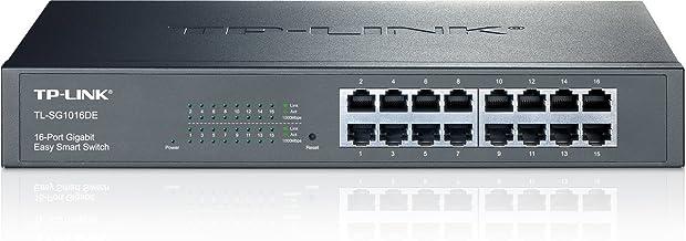 TP-Link 16 Port Gigabit Switch | Easy Smart Managed | Plug & Play | Lifetime Protection | Desktop/Rackmount | Sturdy Metal w/ Shielded Ports | Support QoS, Vlan, IGMP & Link Aggregation (TL-SG1016DE)