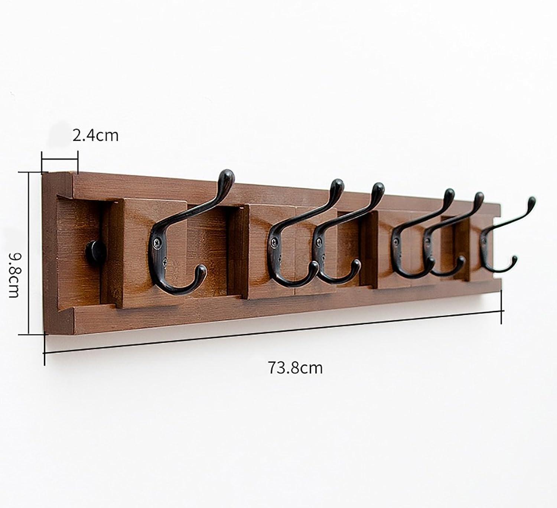 Coat Rack Wall-Mounted Coat Rack Wall Coat Hooks Living Room Creative Wall-Mounted Coat Rack Hook Hook Hook Behind The Door Hook (Size   74cm)