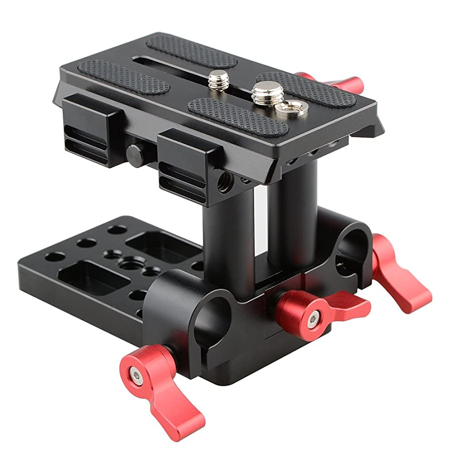 CAMVATE Quick Release Mount Base QR Plate for Manfrotto 501/504/ 577/701 Tripod Standard Accessory(Red)