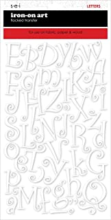 SEI 9-228 1-1/2-Inch Curly Letter Iron on Transfers, White, 2 Sheet