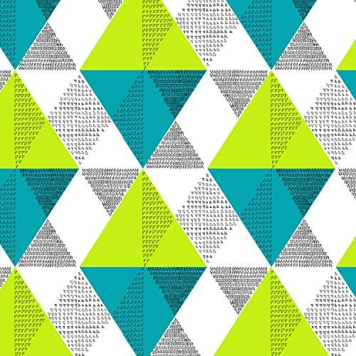 Divine Casa 100% Cotton Geometric Print Mix N Match Bedsheet for Double Bed (Multicolour) 5