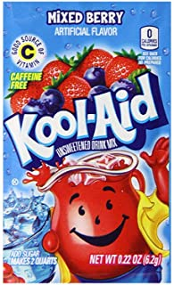 Kool-Aid Mixed Berry Unsweetened Soft Drink Mix, 0.22-Ounce Envelopes (Pack of 48)