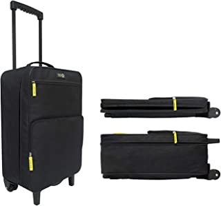 Travel Ready 2-Wheel Ultra Lightweight Collapsible Carry On Luggage Suitcase. Made of High Tensile Strength Materials. App...