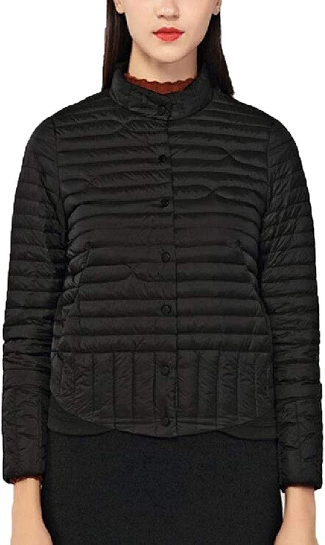 Maweisong Women's Stand Collar Outwears 2 Button LongSleeve Down Jacket Warm