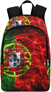 InterestPrint Casual Backpacks Portugal Smoke Flag Laptop Bag School Outdoor Travel Bags for Adults Men Women