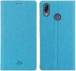 Simicoo Asus Zenfone Max (M2) ZB633KL PUレザー 財布型 手帳型 ケースカード収納ホルダー 横開きスタンド機能 マグネット式 内側TPU耐衝撃 カバー 薄型 スマホ Zenfone Max (M2) ZB633KL ケース (ZB633KL, Blue)