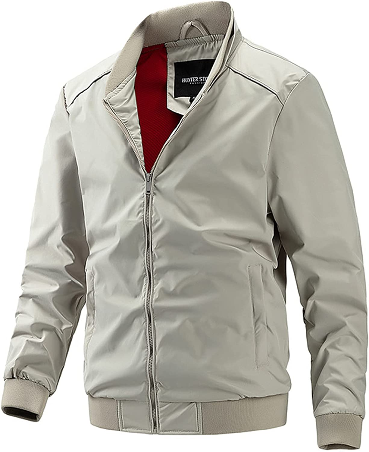 CNBPLS Men's Lightweight Jacket,Casual Sportswear Bomber Coat,Comfortable and Breathable Outwear