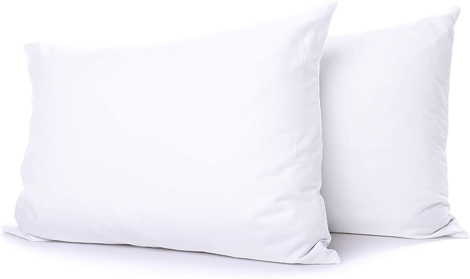 Cotton outlet Delight Standard Pillow Cases Set 2 White of 100% Max 57% OFF Natural