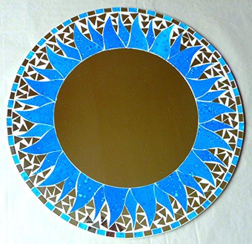 Asia Design Miroir décoratif Rond en mosaïque 40 cm #45