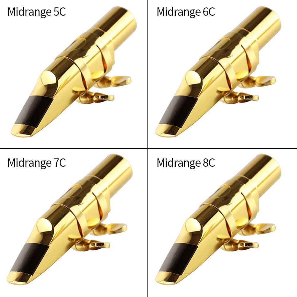 Saxof/ón Boquilla 6c Saxo Alto Soprano con Tapa Boquilla 5C//6C//7C//8C Metal Tono Musical Instrumentos Sonido Profesional Accesorios
