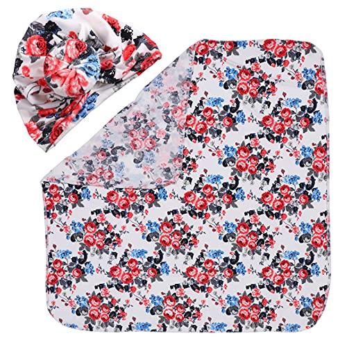 STOBOK Cobertor Do Bebê Swaddle Swaddle Swaddle Unisex Envoltório de Gênero Neutro Com O Chapéu de Algodão Macio E Respirável para O Bebê Infantil