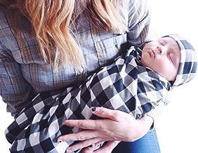 Baby Blankets Newborn Sleep Swaddle Blanket with Beanie Hat Toddler Warm Baby Shower Gift