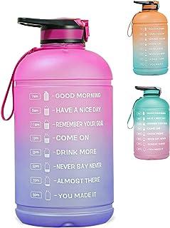 زجاجة مياه كبيرة بسعة 3.8 لتر من بيددينجين مع قلم تحديد تحفيزي للوقت، مقاومة للتسرب، فم واسع، زجاجات مياه خالية من البيسفي...