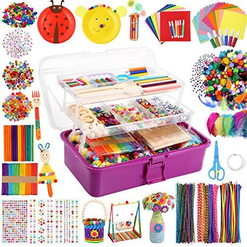 Caydo 3000 Pcs Kids Art and Crafts Supplies, Toddler DIY Craft Art Supplies Set...