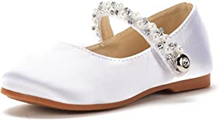 DREAM PAIRS Girl's Sophia Adorables Mary Jane Front Bow Elastic Strap Ballerina Flat (Toddler/Little Girls)