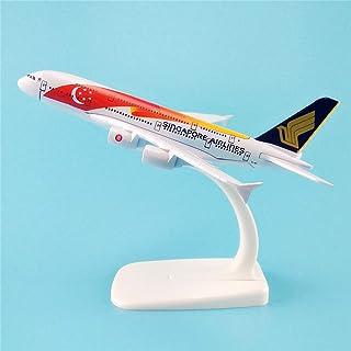 ZYC14cm合金飛行機モデルシンガポール航空A380シンガポール航空シミュレーション航空会社飛行機モデル飛行モデルギフト (RED)