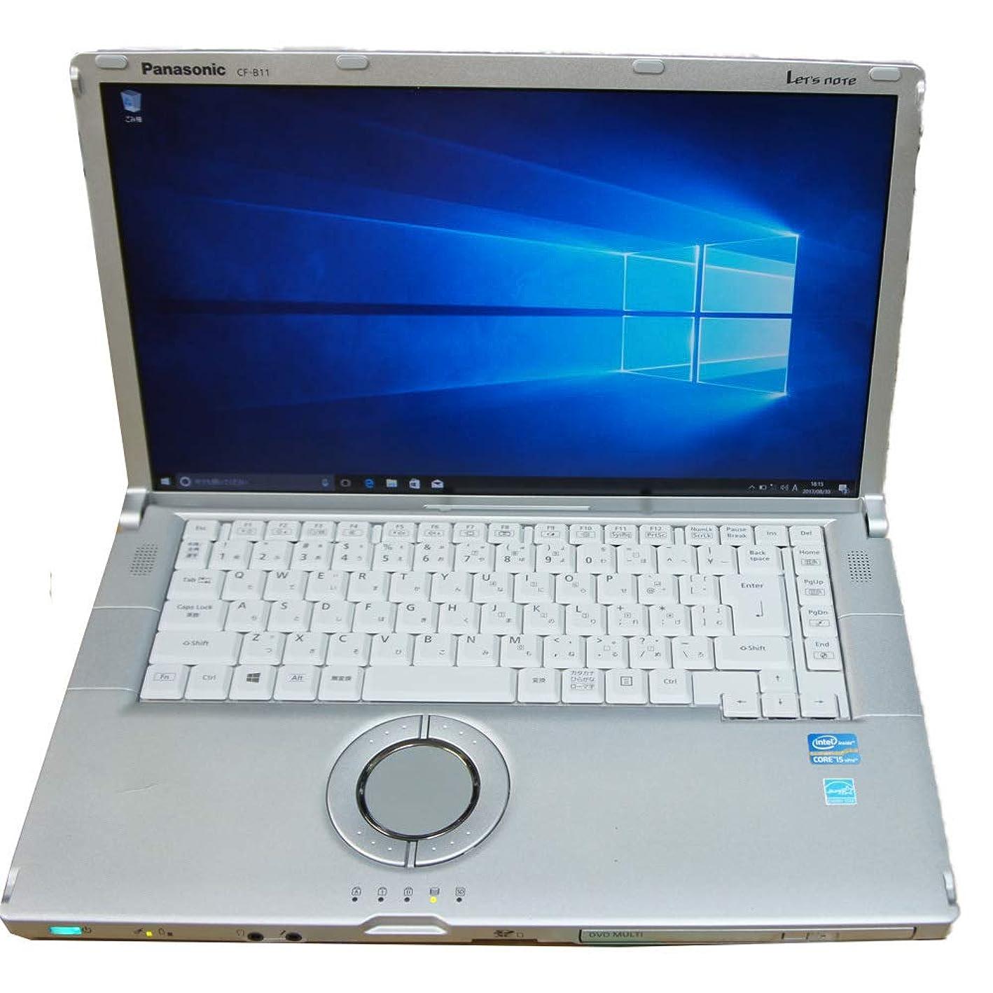 印象的滑りやすい素敵な[中古パソコン][大画面15.6型][フルHD液晶][第3世代i5] Panasonic Let's note CF-B11 (Core i5-3340M 2.7GHz/4GB/SSD128GB/DVDRW/Wi-Fi/Windows10-64bit) [秋葉原]《パソコン販売 アキバパレットタウン》