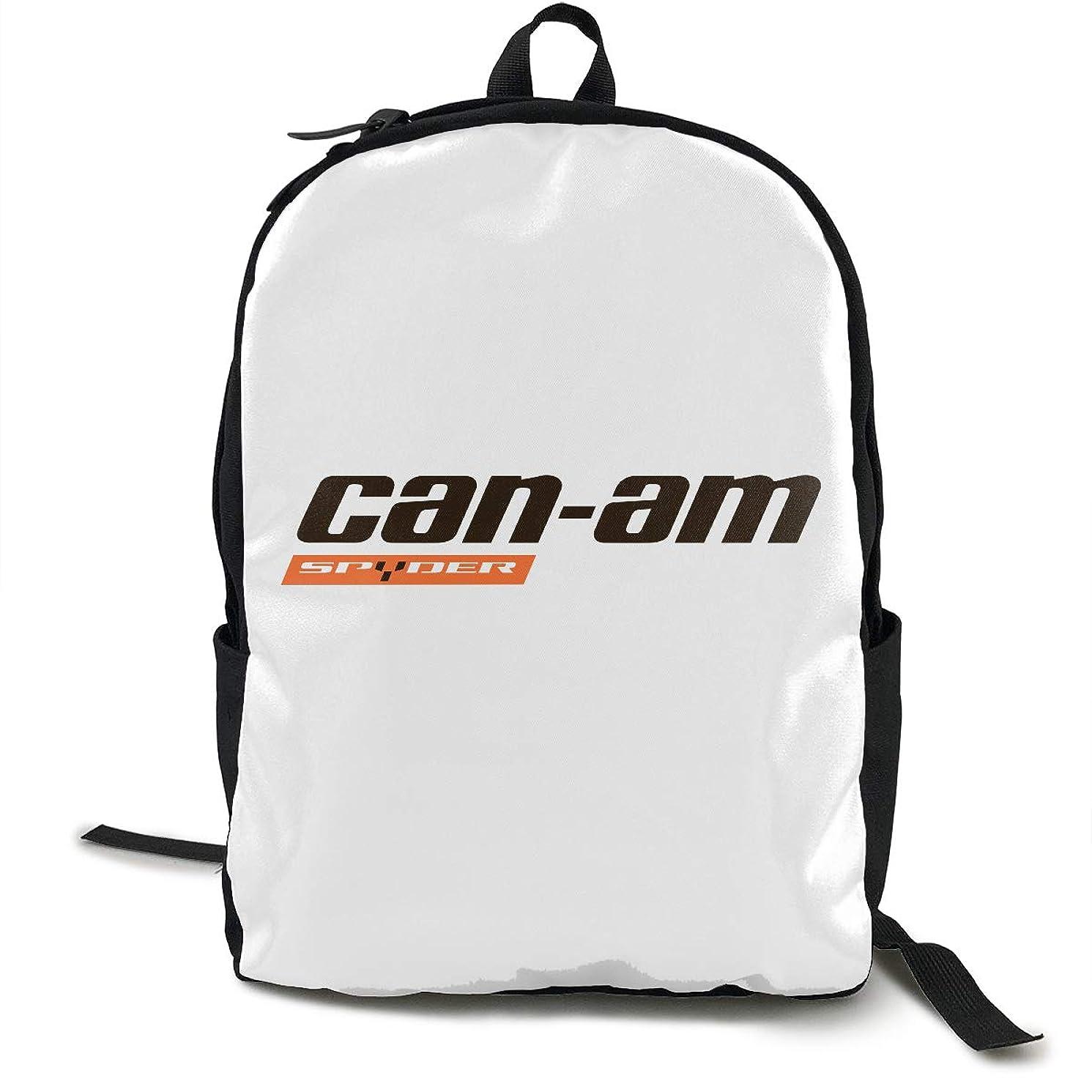Can Am Logo Backpacks Anti Theft Shoulder Bags Laptop School Travel Large Bag For Men Women Black