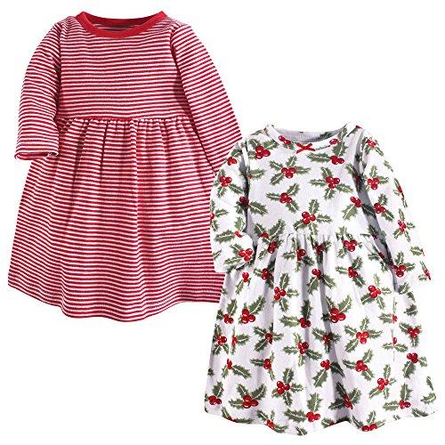 Hudson Baby Girl's Cotton Dresses, Holly, 5 Toddler