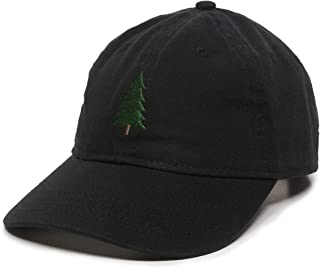 Evergreen Tree Embroidered Dad Hat - Adjustable Polo Style Cap for Men & Women