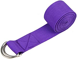 Fine Yoga Stretch Strap - Leg Stretch Band to Improve Flexibility - Stretching Out Yoga Strap - Exercise and Physical Therapy Belt for Rehab, Pilates, Dance and Gymnastics
