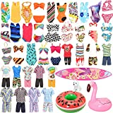 Miunana Lot 12 Pcs Handmade Doll Clothes and Accessories Set for Ken and 11.5 Inch Dolls  Random 3pcs Swim Trunks for Ken + 5 pcs Swimsuits for Girl Doll + 1 Surf Skateboard + 2 Lifebuoys