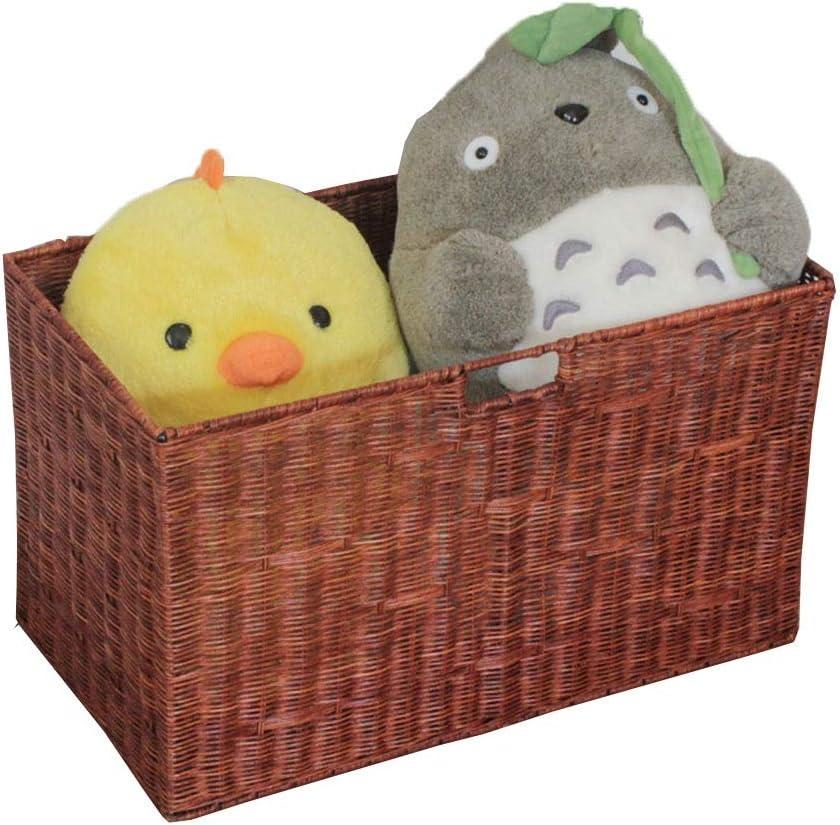 JXSHQS Storage Latest item Basket with Insert Overseas parallel import regular item : Brown Color Size Handle