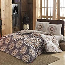 Eponj Home Single Quilt Cover Set - Duvet Cover: 135 x 200 cm Pillowcase: 80 x 80 cm (1 Piece)