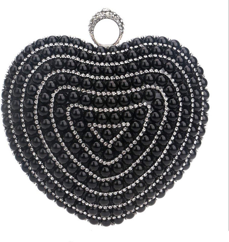 Eeayyygch Handtasche damen Crystal Strass Diamante Abend Abend Abend Handtaschen Party Prom Bag Box Geldbörse (Farbe   Schwarz) B07JMQ2X4C 316227