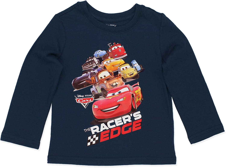 Disney Cars Lightning McQueen Toddler Long Sleeve T-Shirt Tee